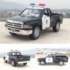 Candice guo 1:44 MINI KINSMART dodge RAM 1500 truck police emergency model alloy car children birthday gift pull back toy 1pc