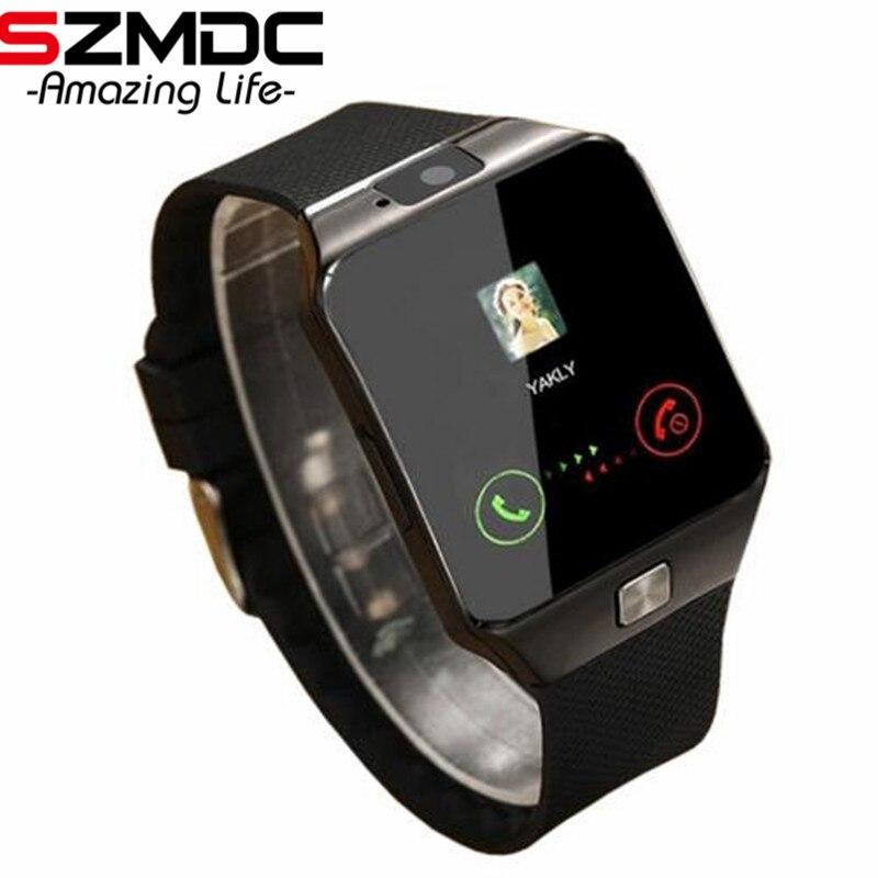 Reloj inteligente Bluetooth Smartwatch DZ09 llamada de teléfono Android Reloj 2g GSM tarjeta SIM TF cámara para iPhone Samsung HUAWEI PK GT08 A1