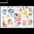 SHNAPIGN Cinderella Snow White Mermaid Child Temporary Flash Tattoo Body Art Sticker 17*10cm Tatoo painless Henna selfie