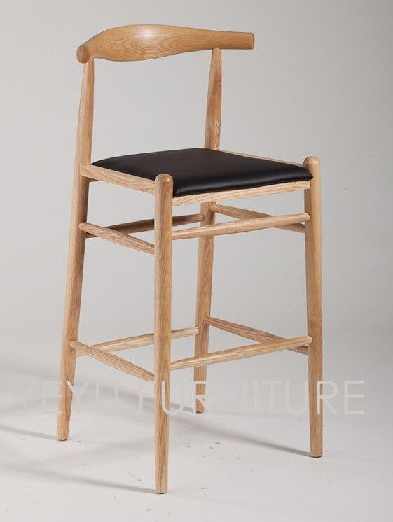 Minimalist Modern Design Solid Ash Wooden High Bar Chair