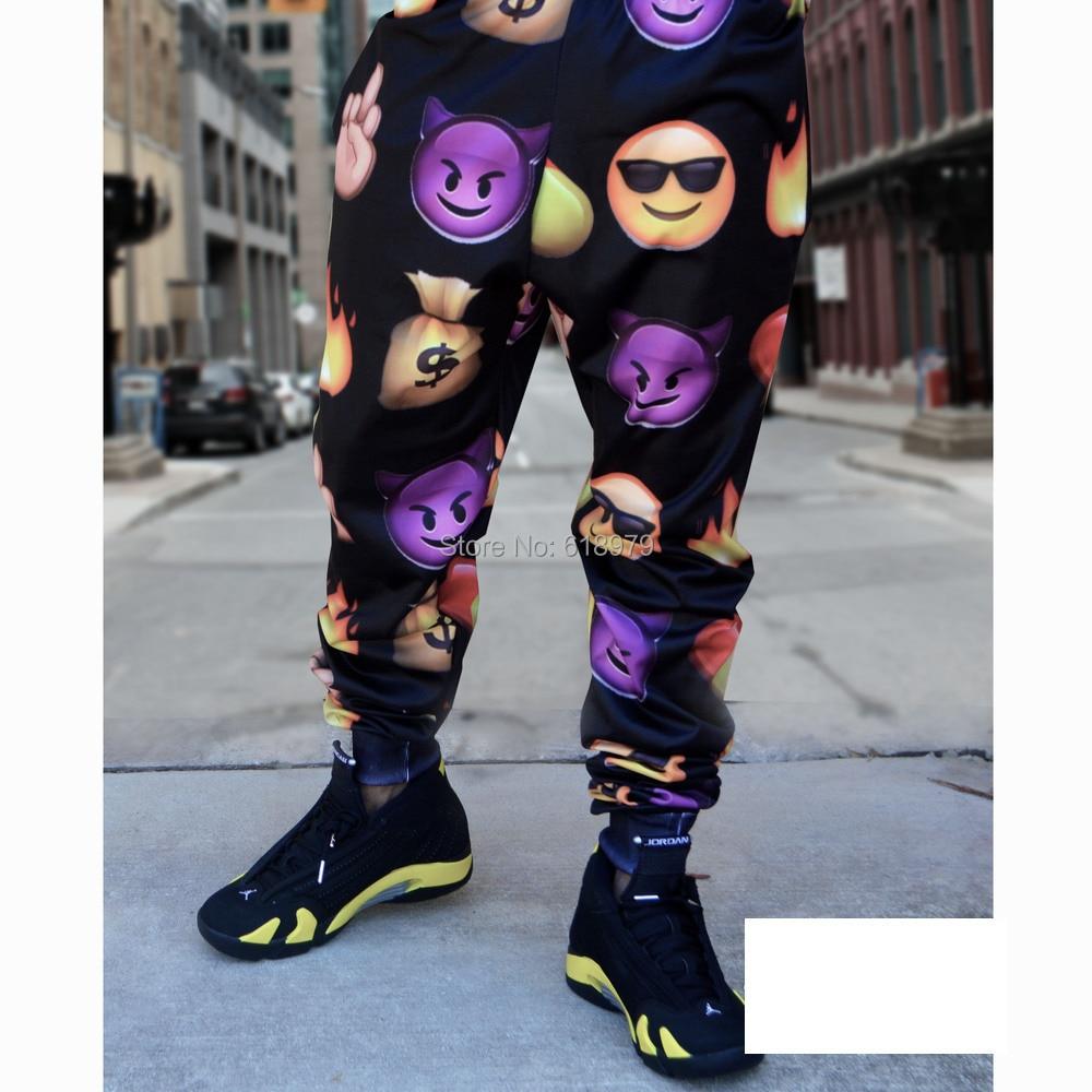 2014 new fashion unisex mens emoji joggers sports sweatpants pyrex hba yeezy swag jogger pants - ifashion Shopping Mall store