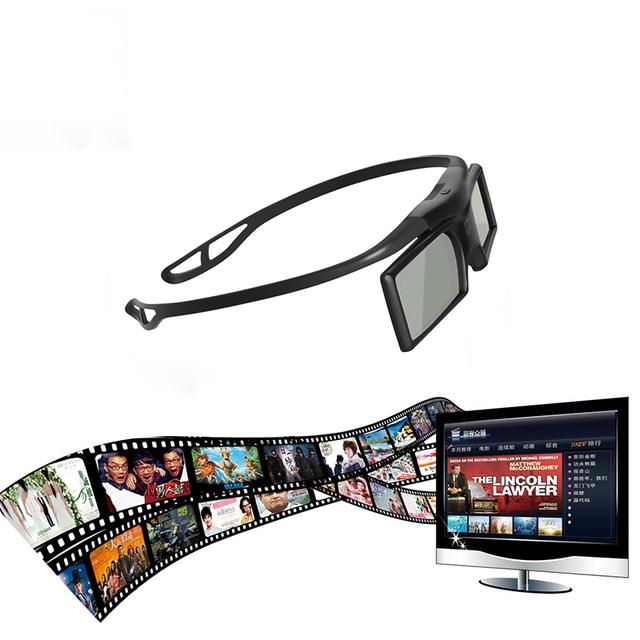 Lentes de Óculos 3D Active Shutter TV Óculos Bluetooth LCD HDTV 3D Blu-ray players Eletrônico Design Inteligente Óculos Gonbes G15-DLP