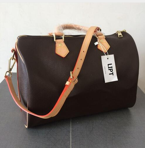2018 Hot selling new fashion women handbags good quality speedy bag with starp bag free shipping original kba d2151 s21 selling with good quality