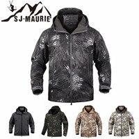 SJ MAURIE Outdoor Men Military Tactical Hunting Jacket Waterproof Fleece Hunting Clothes Fishing Hiking Jacket Winter Coat