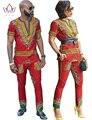 Vestidos para Las Mujeres africanas Nuevos Diseños de Ropa para Los Amantes de Pareja Dashiki Los Hombres Camisa de Manga Larga de La Marca de Ropa Más Tamaño WYQ24