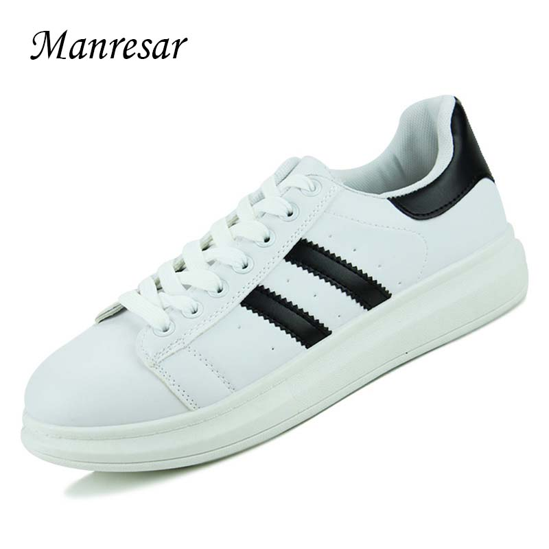 Manresar 2017 Men Casual Shoes Fashion Spring Autumn Unisex PU Leather Couples and Lovers Walking Shoes