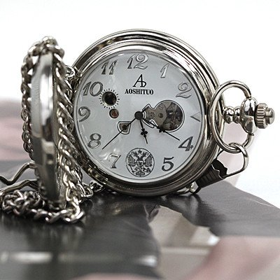 Men Sport Mechanical Russia Army Pocket Watch Collect free shipping