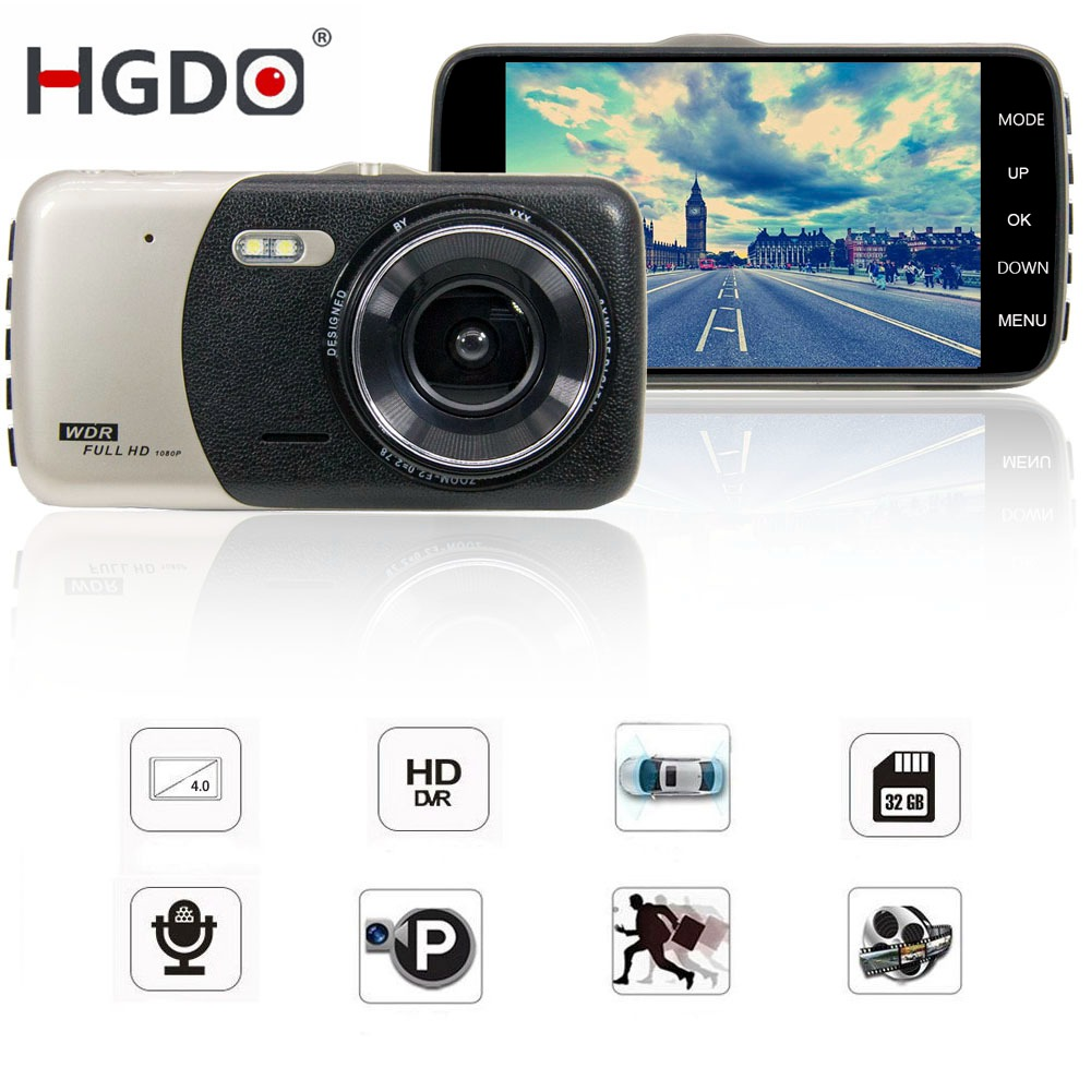 Car DVR Parking-Mode Vehicle-Camera Video-Recorder Dash-Cam G-Sensor Dual-Lens Night-Vision