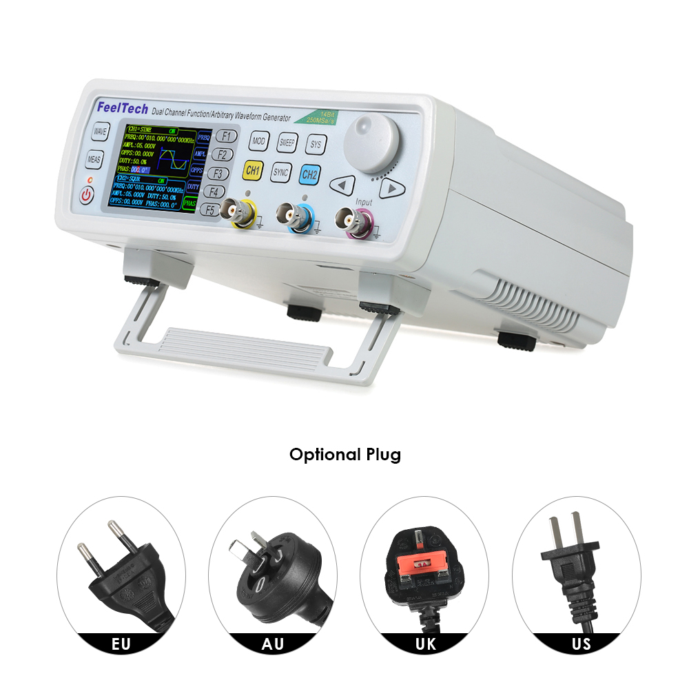High Precision Digital Signal Generator Dds Function 20mhz Speed Fy6800 Dual Channel Frequency Arbitrary Waveform 250msa