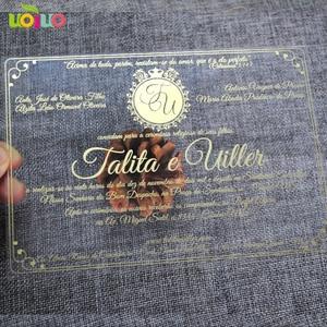 Image 3 - 30pcs print custom acrylic wedding invitation card