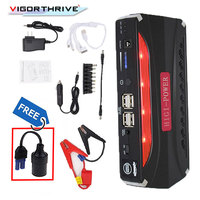 12V Car Jump Starter LED Mini Emergency Multi function Portable Power Bank Battery Charger Booster Car Charger Starting Device