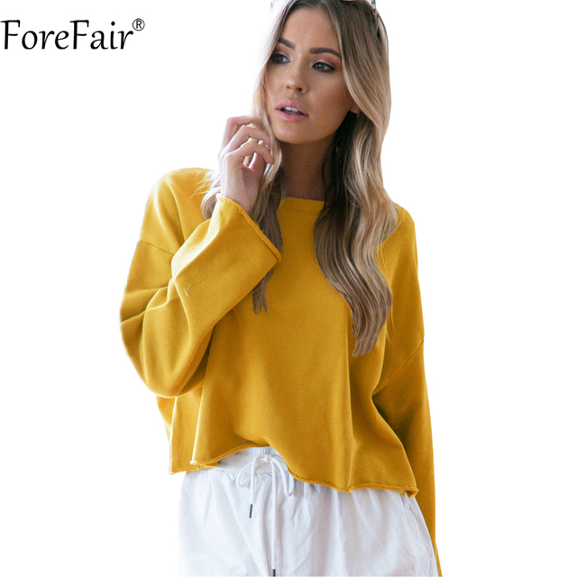 263994b809 Aliexpress.com : Buy ForeFair Drop Shoulder Basic Sweatshirt Women ...