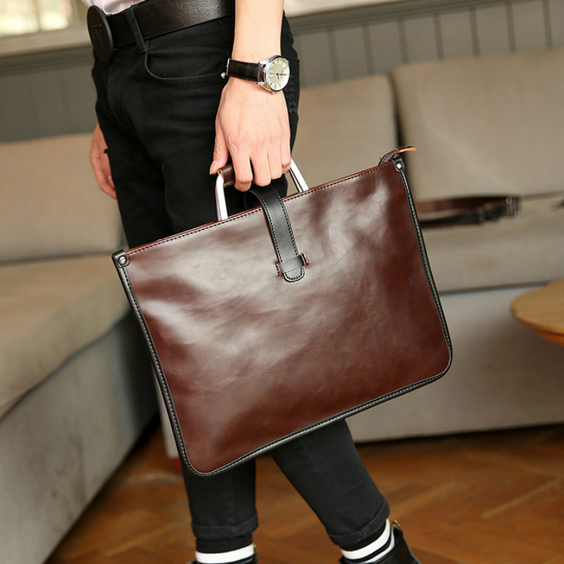 Tidog Korean Male Bag Vintage Bag Men Ladies Handbag Briefcase