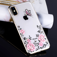 KAVARO For IPhone X 10 Cove Crystals From SWAROVSKI Glitter Hard Plated Floral Luxury Diamond Case