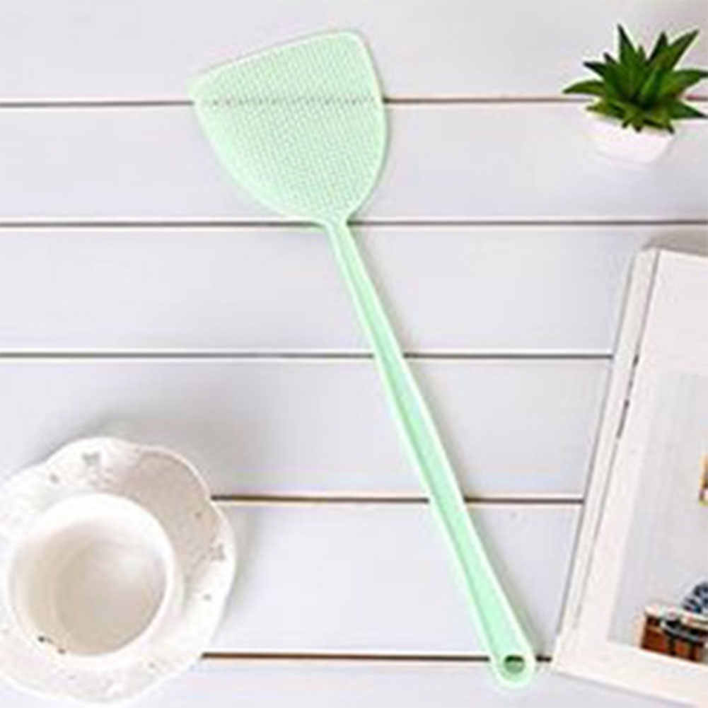 1 pc Portable Pest Control Tools Plastic Fly Swatter Manual Swat Mosquito Pest Control with Long Handle Pest Swatter #914