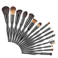 15pcs Body Curve Pro Foundation Powder Blush Makeup Brush Set Contour Concealer Eyeliner Eyeshadow Eyebrow Eyelash Lip Brush Kit