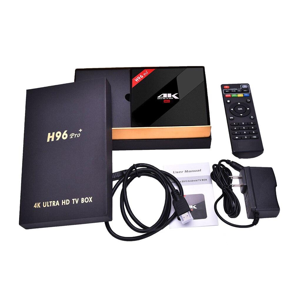 3G/32G H96 Pro+ Amlogic S912 Octa Core Android 6.0 TV Box 2.4G/5GHz WIFI Bluetooth Gigabit LAN 4K DLNA Google Play Set Top Box