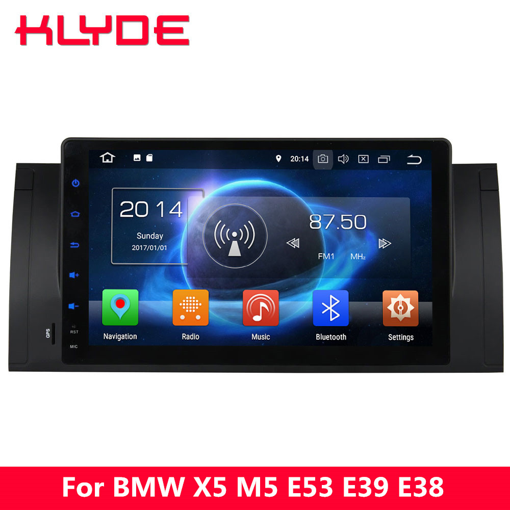 KLYDE 9 IPS 4G Octa Core Android 8 4GB RAM 32GB ROM Car DVD Player Radio For BMW X5 E53 2000 2001 2002 2003 2004 2005 2006 2007 цена