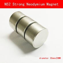 1pcs N52 D35mmx20mm Super Strong Cylinder Round Magnets diameter 35*20MM Neodymium Rare Earth Magnet N52