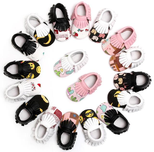 1047af530b90 50 pairs lot wholesale New Genuine leather Tassel Cartoon newborn baby  infant kids princess first