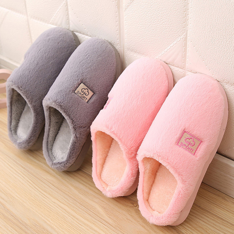 Warm plush floor women slippers flat pink winter fur home shoes women fashion non-slip room indoor slippers female new DBT1114 fongimic comfortable women slippers women casual indoor plush shoes autumn winter warm fashion slippers hot sale flat slippers