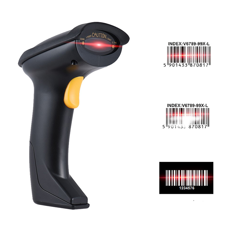 Wireless Bluetooth Barcode Scanners 1D 32 Bit Laser Support HID/SPP Bluetooth Transmission Mode For IOS Android Windows