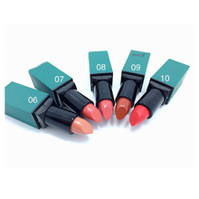 2016NEW/1 unid barra de Labios Mate de Terciopelo Liso Inferior Maquiagem Long Last Pintalabios Rojo Serie Pin como De Sobrancelha