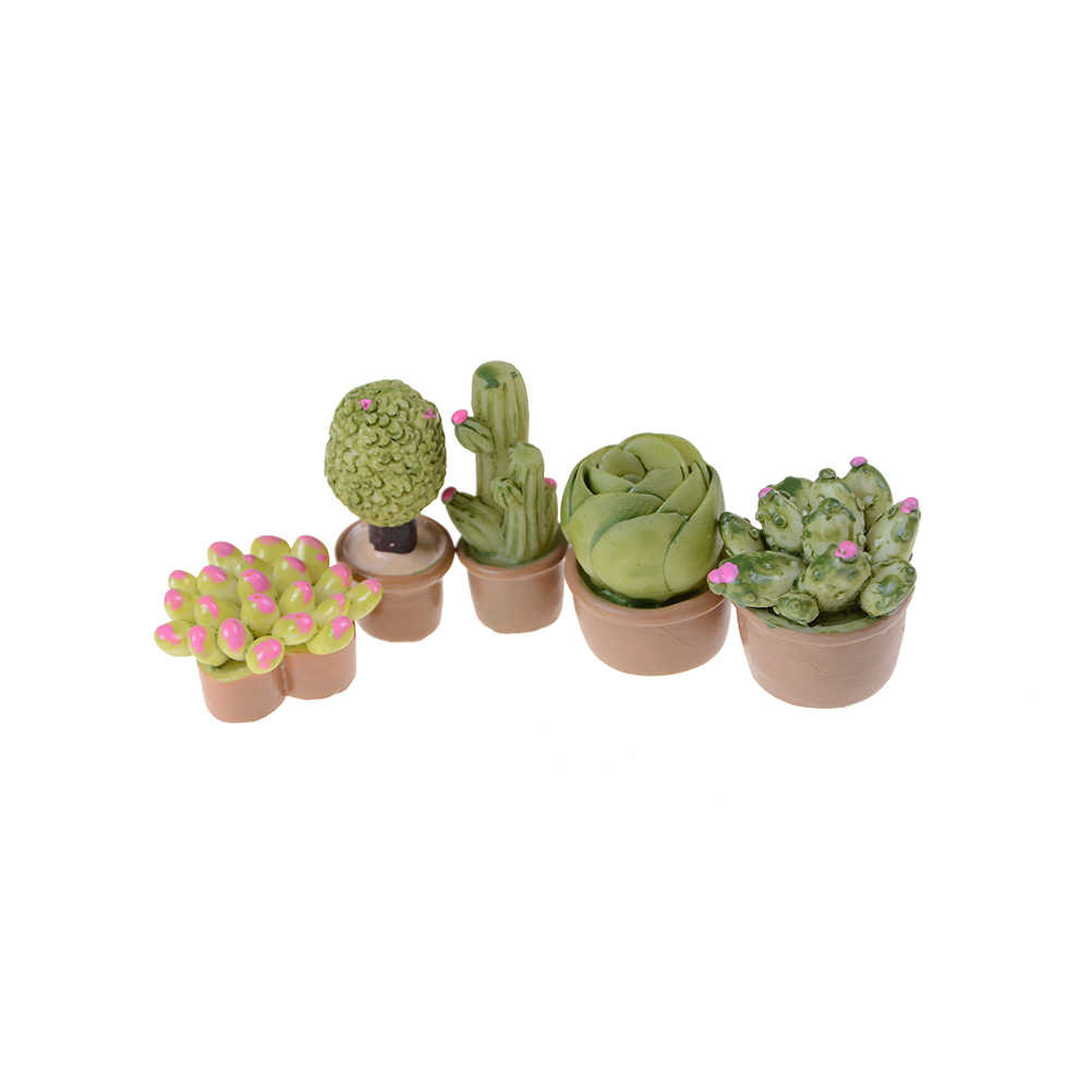 NEW 1:12 Home Decor Succulent plants Mini Hot Sale Miniature Green Plant In Pot For Dollhouse Furniture Decoration