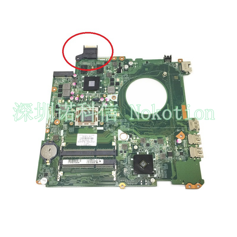 NOKOTION 803973-501 805040-501 DAY23AMB6F0 laptop motherboard for HP Pavilion 17 17-F Mainboard full test 763425 501 for hp pavilion 17 f 17z f laptop motherboard day22amb6e0 rev e 260m2gb a6 6310 mainboard 90days warranty 100