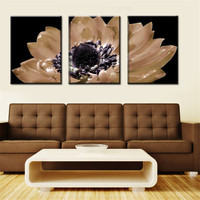New 3 Panels Modern Flower Painting Picture Living Room Decorative Canvas Painting Paint Print Art Big