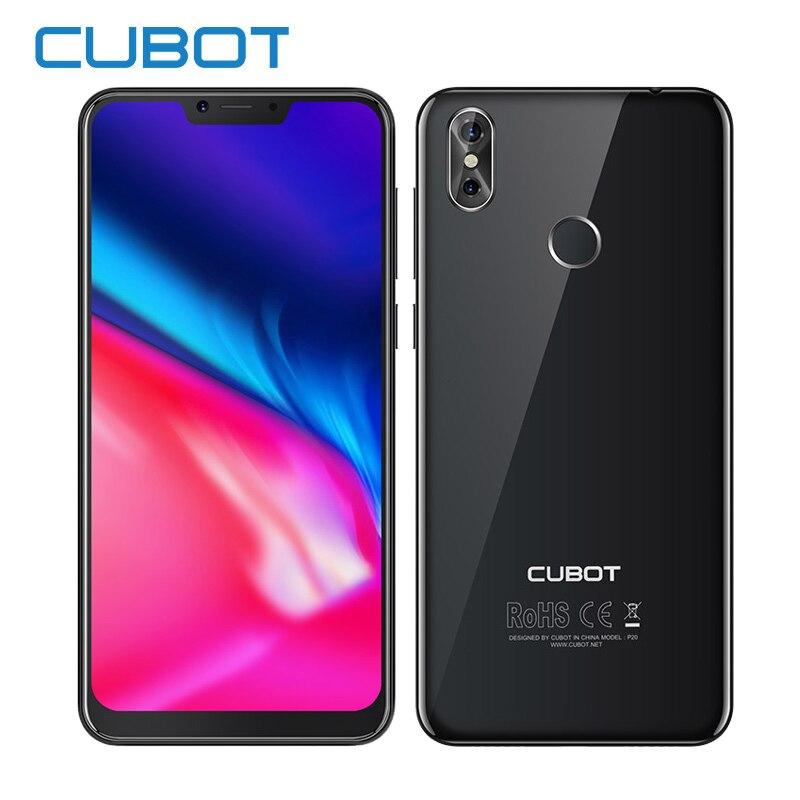 Cubot P20 19:9 6,18 '2246*1080 FHD + primera pantalla Android 8,0 4 GB RAM 64 GB ROM MT6750T Octa-Core teléfono 4000 MAH para 20.0MP