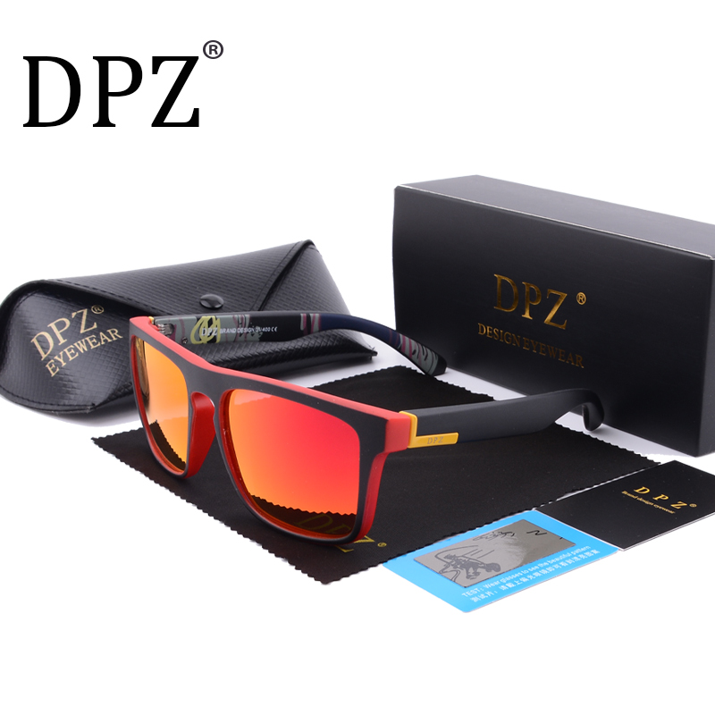 DPZ Polarized sport Sunglasses Men Brand Designer 2018 aviator Sunglasses Women Sunglasses Male Female UV400 original package