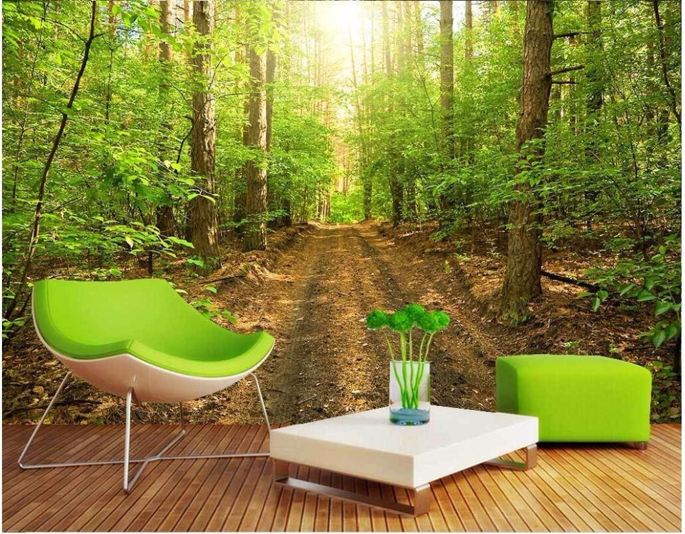 3d custom wallpaper photo mural Forest natural scenery picture room decoration painting 3d wall murals wallpaper for walls 3 d 3d wall murals wallpaper for living room walls 3 d photo wallpaper sun water falls home decor picture custom mural painting