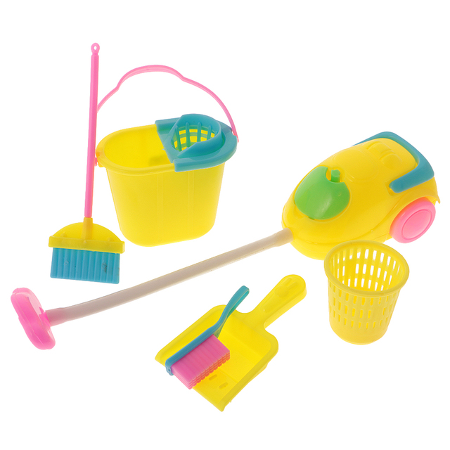 Barbie dollhouse furniture sets Cheap New 6pcs Dollhouse Furniture Miniature Cleaning Tools Set Broom Dustpan Kitchen Toys Eary Educational For Barbie Dolls Baby Toys Aliexpress New 6pcs Dollhouse Furniture Miniature Cleaning Tools Set Broom