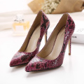 2017 punk gothic womens pointed toe animal snakeskin print pu leather court shoes pumps stilettos sexy shoes prom shoes