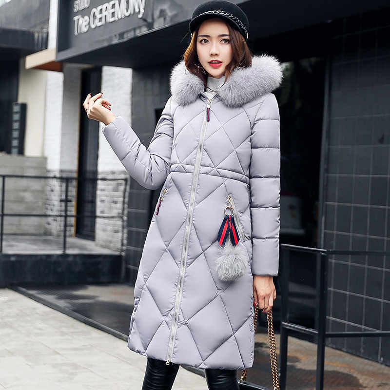 7fcfbb296741 Winter Warm Big Fur Thick Long Parka Coat Women Down Parkas Coat Female  Long Jacket Lady