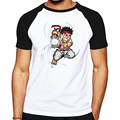 Реглан Тройники Street Fighter Напечатаны Хлопок Футболки для Мужчин высокое качество мужская Звонка Повседневная Футболка для Мужчин Hombres Camiseta топы