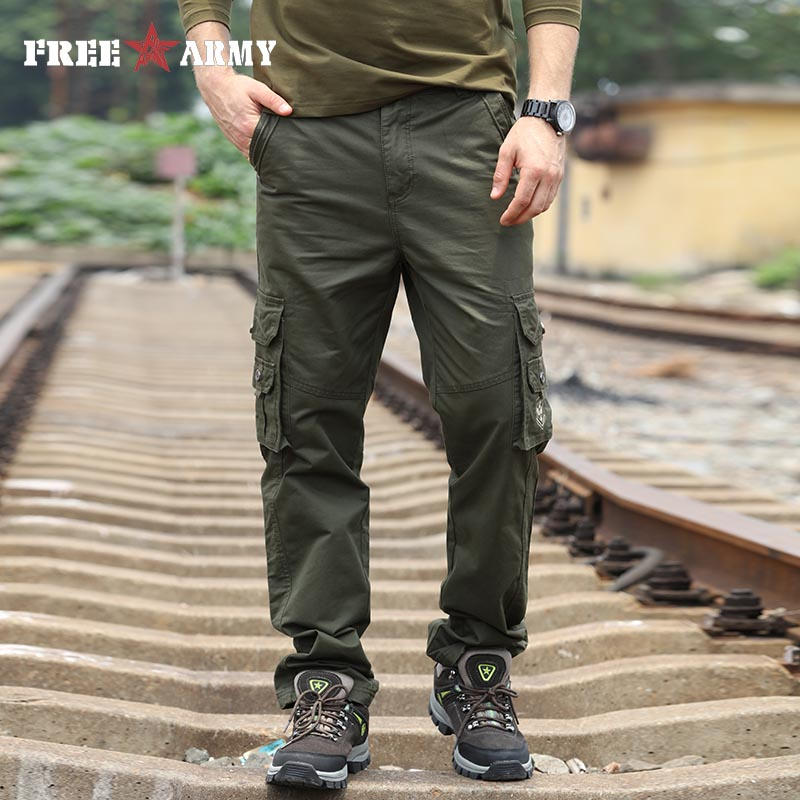 Free Army Male Trousers Casual Sweatpants Cargo Pants Men