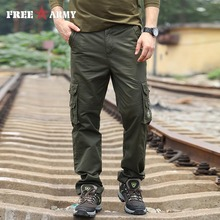 FreeArmy Brand New Fashion Mens Hosen 2016 Marke Männliche Hosen Beiläufige Taschen Solide Jogginghose Cargohosen Männer Größe 42 MK-7160A