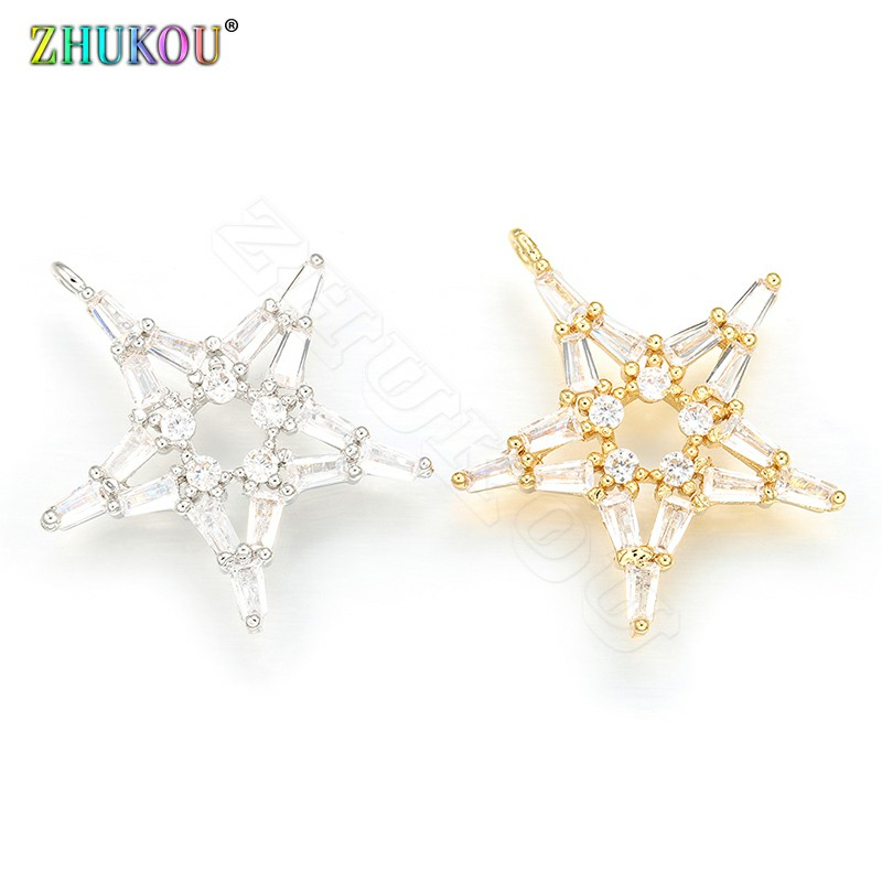 ZHUKOU 23x24mm Candy Starfish Charms for Women Earrings Necklace DIY Making Jewelry Accessories Model:VD414