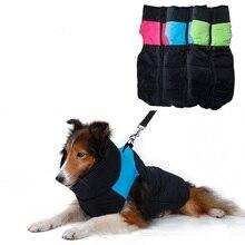 Großen hund Warme Wasserdichte Haustier Hund Kleidung Gepolsterte Weste Jacke Mantel Geeignet Für Medium large Hunde