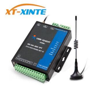USR-IO424T-EWR 4-Way 4 Canali WIFI e Ethernet DI Rete IO Controller Supporta 4 DI/4 DO/2AI /1PT/RS485 Porta Modalità Master-Slave