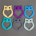6 Color Cute Baby Kids Teether Silicone Owl Teething Pacifier Pendant Teeth Toy Soother