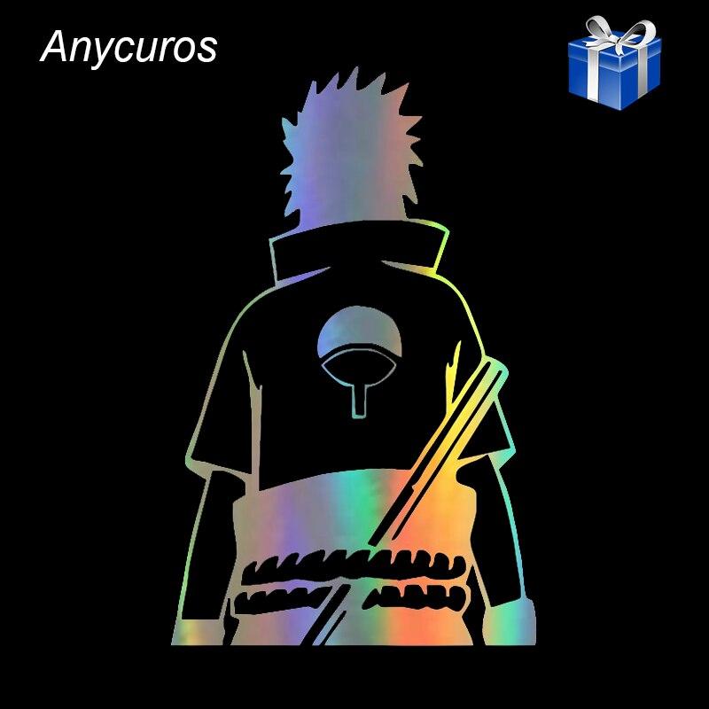 Anycuros Naruto Sasuke Uchiha Anime Fashion Stickers Decals Vinyl 10.9cm*17.1cm