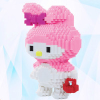 The Granules In Series of Large Building Blocks of Hello Cat Adult Children's Educational Toys DIY Factory Direct 8022 8021