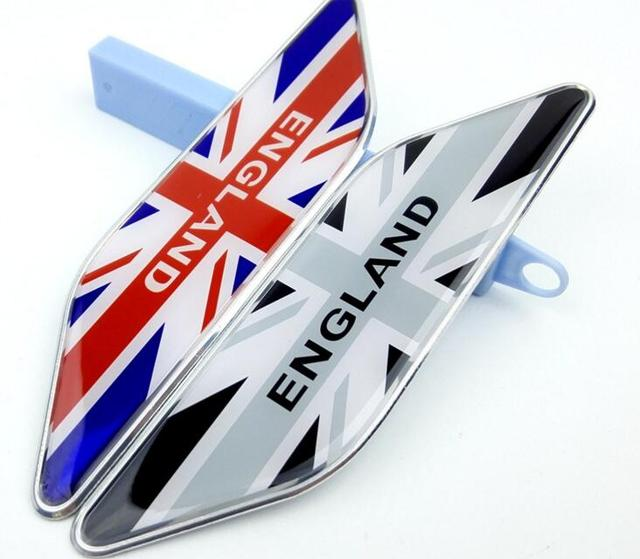 300 Pairs Aluminum National England Flags Car Styling Emblems