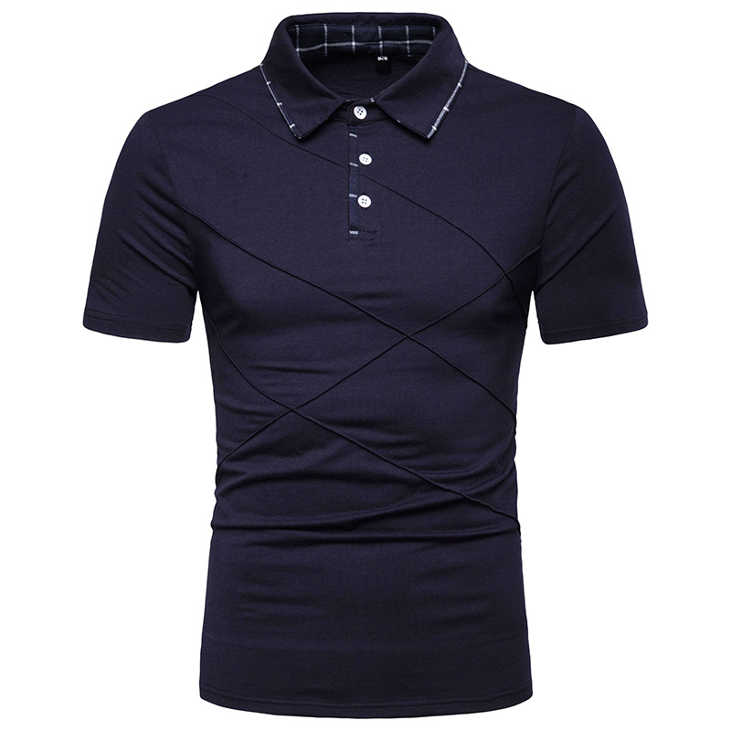 New Man Polo Shirt Mens Fashion Solid Color Striped Design Polo Shirts For Men Short Sleeve Business Casual Polo Men