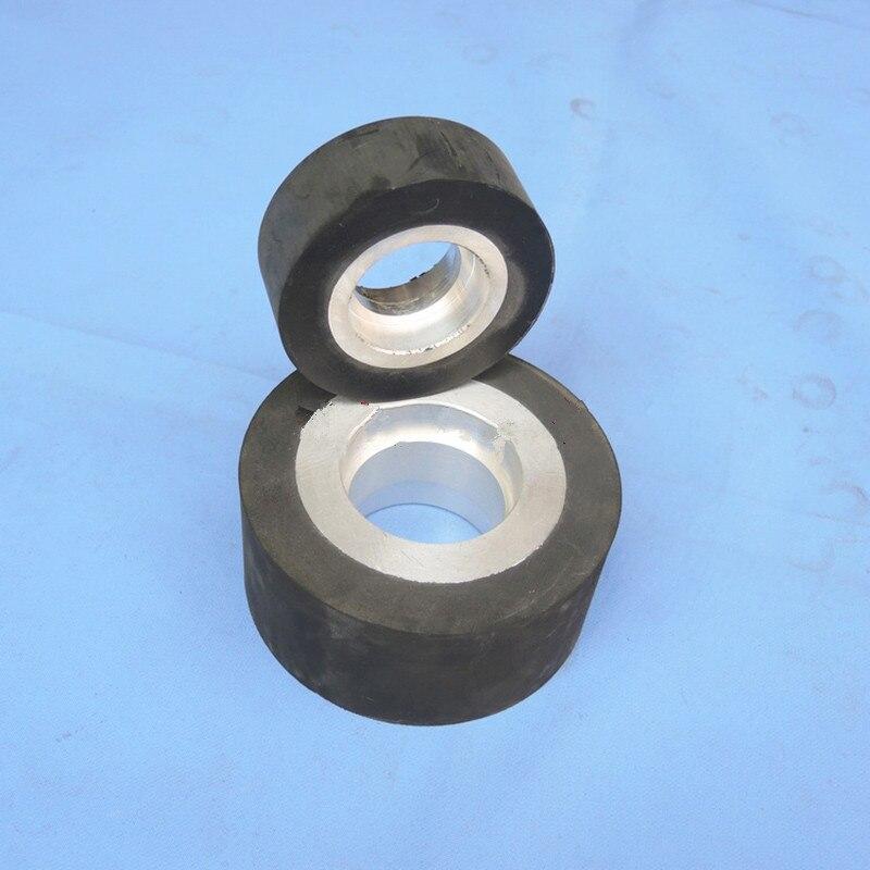 Sanding Belt Rubber Flat Wheel With Aluminium Core For Sander Polisher Machine Fix With Bearing 6204/6205