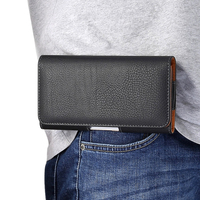 Mobile phone hanging Waist bag elderly belt phone holster 4.7 5.2 5.5 6.4 inch universal leather case pouch