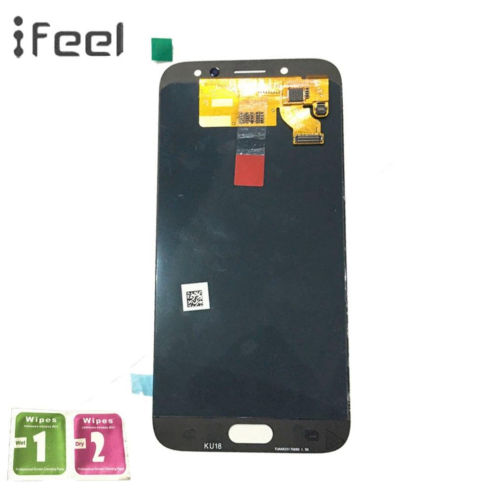 IFEEL 5.5 SUPER AMOLED Affichage Pour SAMSUNG Galaxy J7 Pro 2017 J730 J730F LCD Écran Tactile Digitizer Assemblée Remplacement